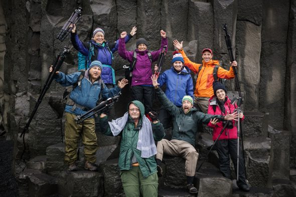 Photography Workshop Group in Iceland