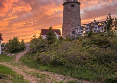 Monhegan Lighthouse Sunset