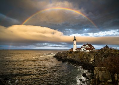 Rainbow Over Portland Head Light