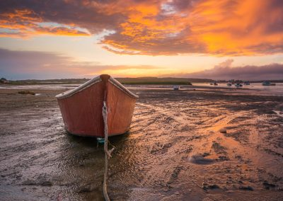 Red Dinghy Sunset