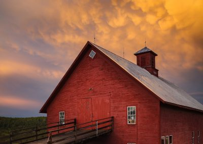 Sunset and barn Vermont